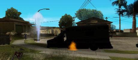 Der Hydrant ist gleich nach der Detonation hochgegangen.