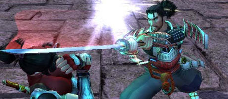 Mitsurugi in Action.