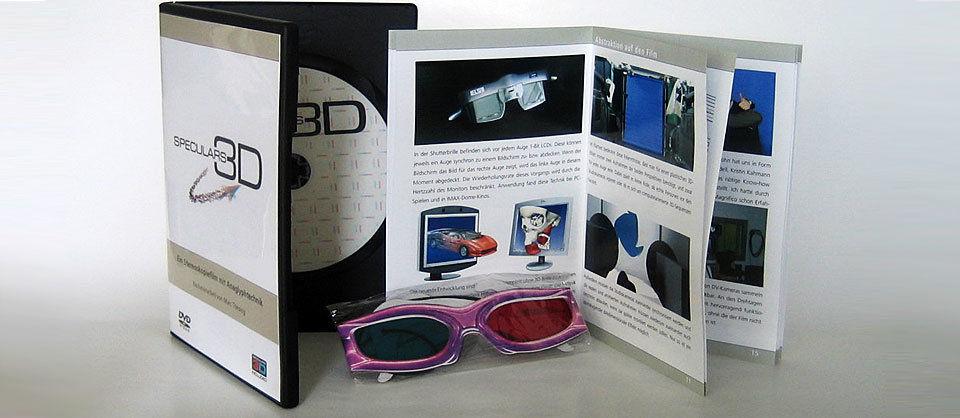 Das endgültige Produkt: DVD mit Bonusmaterial, Broschüre und Brillen.