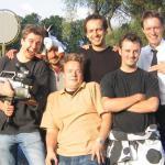 Fabio, Philipp, Fabian, Michi, Papa und ich.