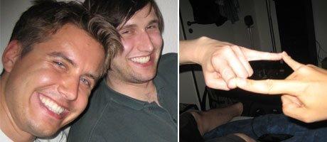 Lukas Mroczynski [DSLuke] und ich [MarcDK] nachts um 2 Uhr mit dem Clangruß.