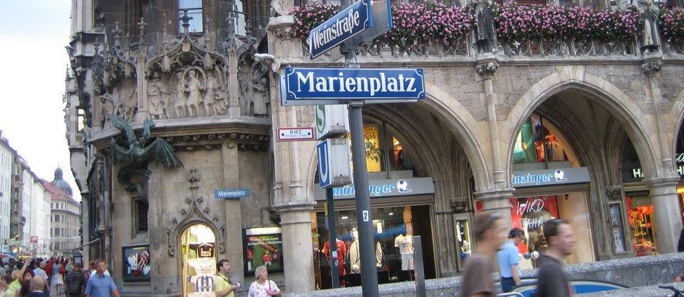 Natürlich habe ich mir auch den Marienplatz angesehen.