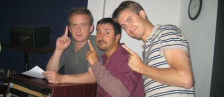 Thomas Huber, Fabio Magnifico und Marc Tönsing in Magdeburg