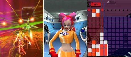 REZ (2001 DC/PS2), Space Channel 5 ( 1999 DC) und Lumines (2005 PSP)