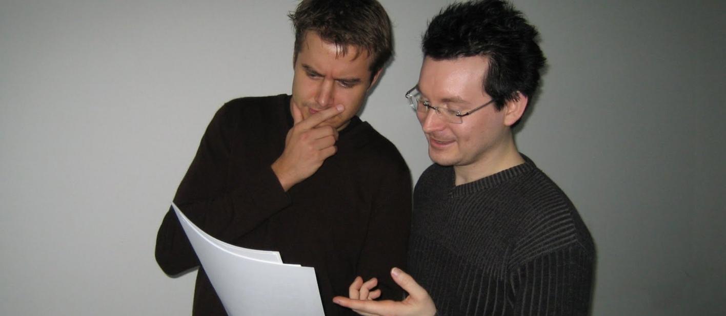 Marc Tönsing (links) und Matthias Senker (rechts) im Kurs Social Software