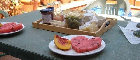 Ist es nicht schön, wenn jemand so ein Frühstück macht?