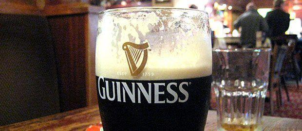 A fresh guinness beer in a pub in Ilford/ London