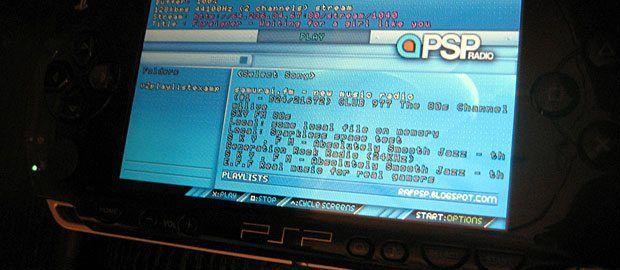 Schon 2006 brauchte man für Internetradio keinen PC mehr: PSP Radio