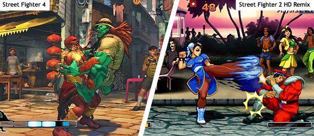 Street Fighter 4 und Super Street Fighter 2 HD Remix