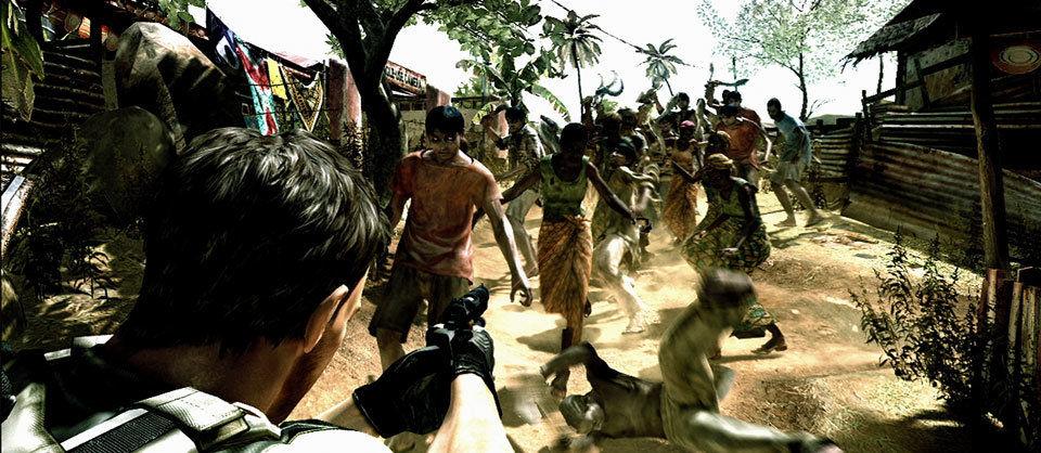Resident Evil 5 zeigt nur Tearing in 1080p (hochskaliert) aber keines wie hier in 720p