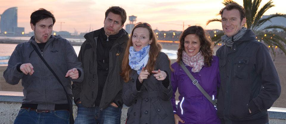 Barcelona ist wie Hamburg. Nur eben wärmer, schöner und mit echtem Strand und Palmen. Nicht im Bild: Christian