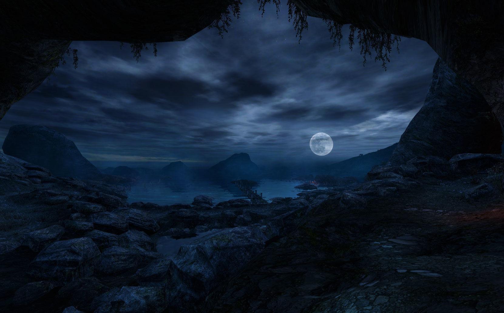 Nun ist der Mond aufgegangen