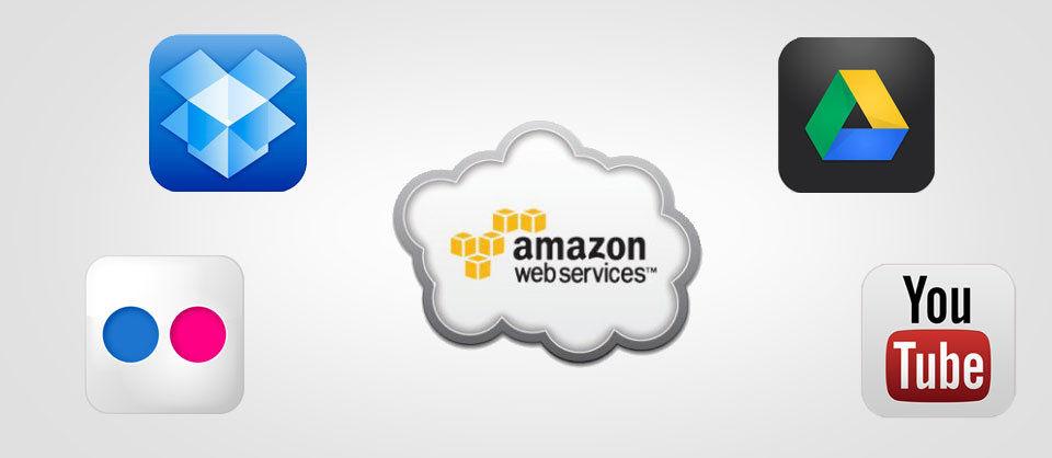 Nicht mehr wegzudenken: Cloud Dienste wie Dropbox, Flickr, Google Drive, YouTube und Co.