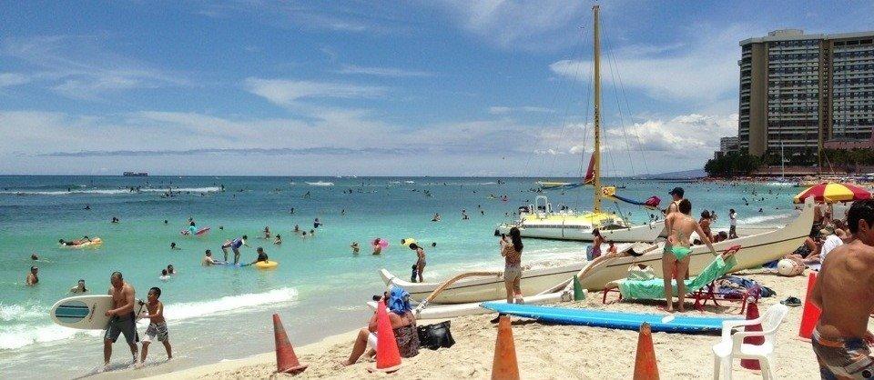 Mallorca für die Amis: Waikiki Beach in Honolulu
