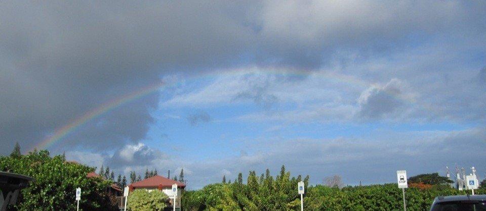Regenbogen über der Kauai Coffee Plantation