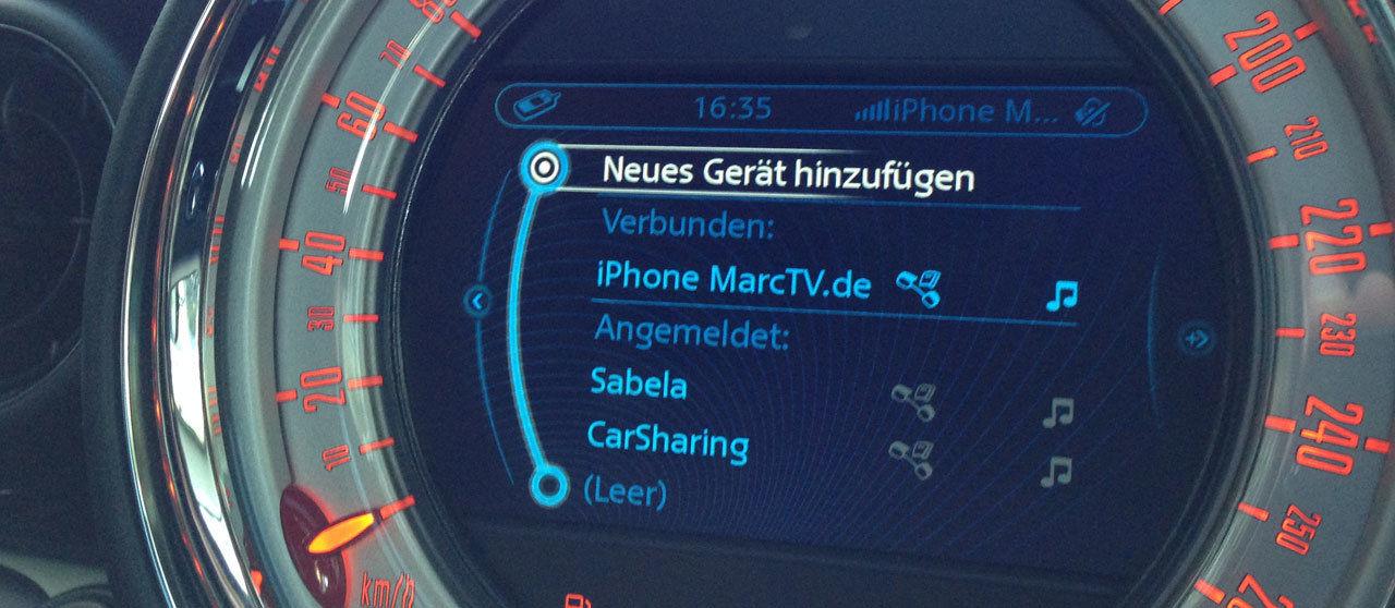 DriveNow erkennt mein iPhone per BlueTooth