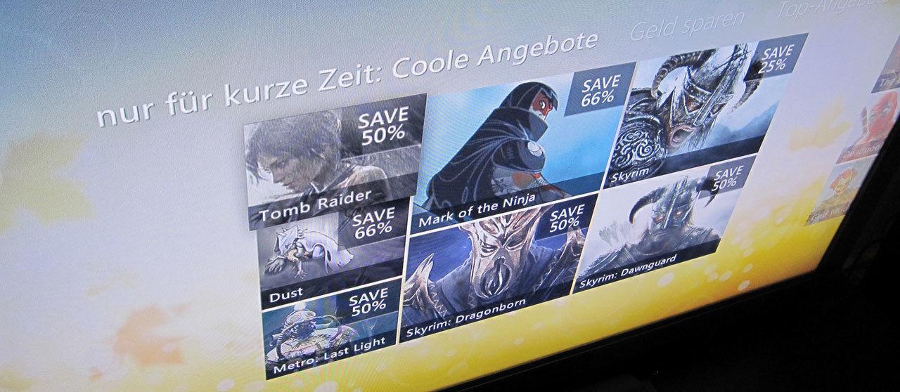 Sonderangebote auf Xbox LIVE