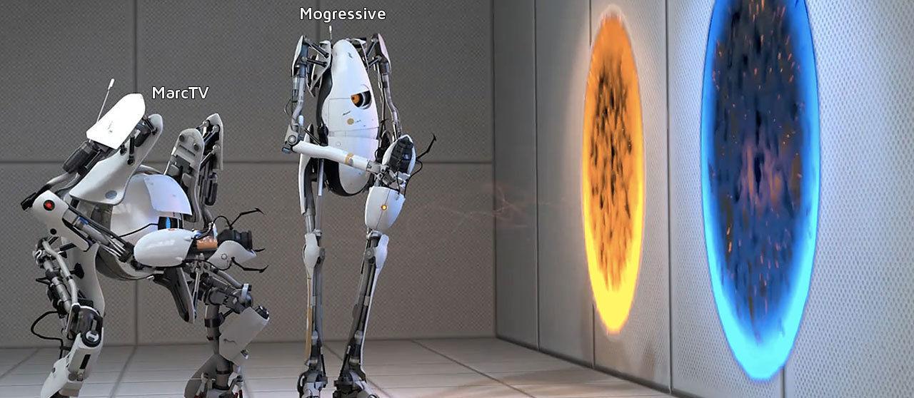 Portal 2 Coop - Atlas und P-Body