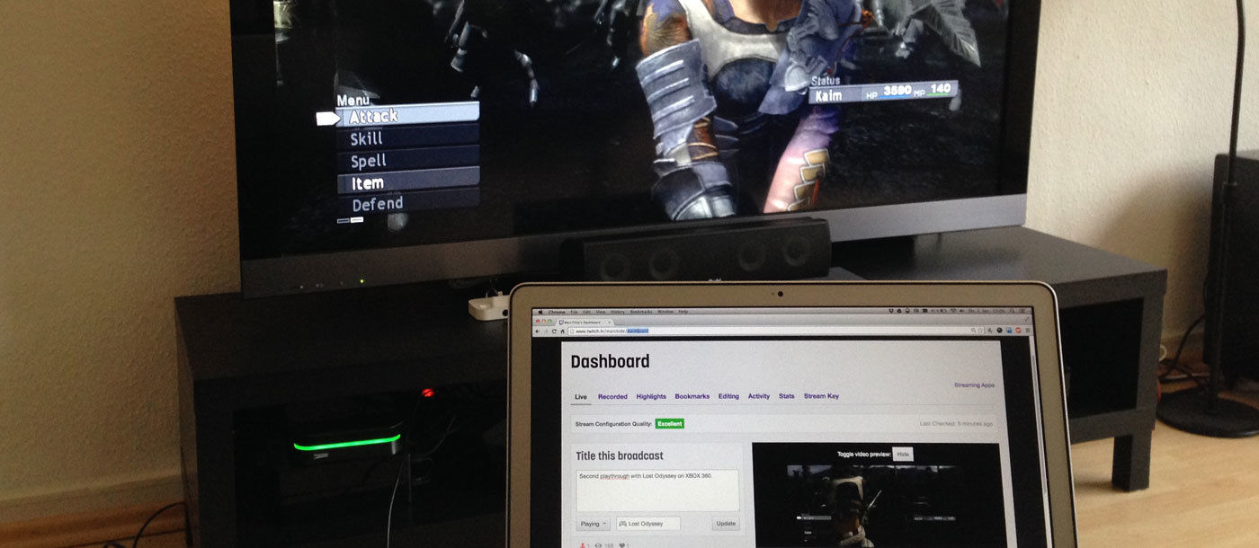 Twitch with HDPVR and ffmpeg on a mac