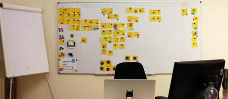 Kanban Board für Agile Softwareentwicklung