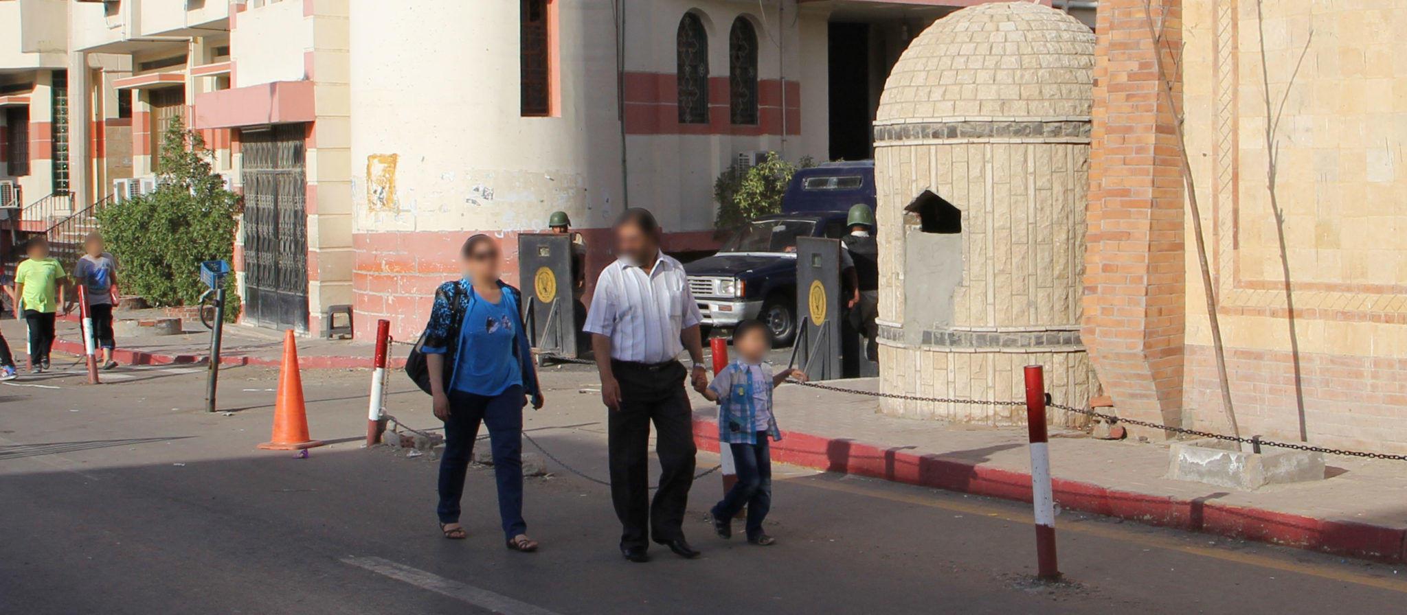 Eines der wenigen Bilder der Militärpolizei überall in Hurghada City