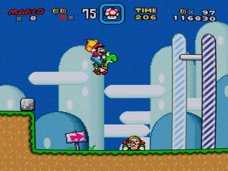 Super Mario World Levelausgang