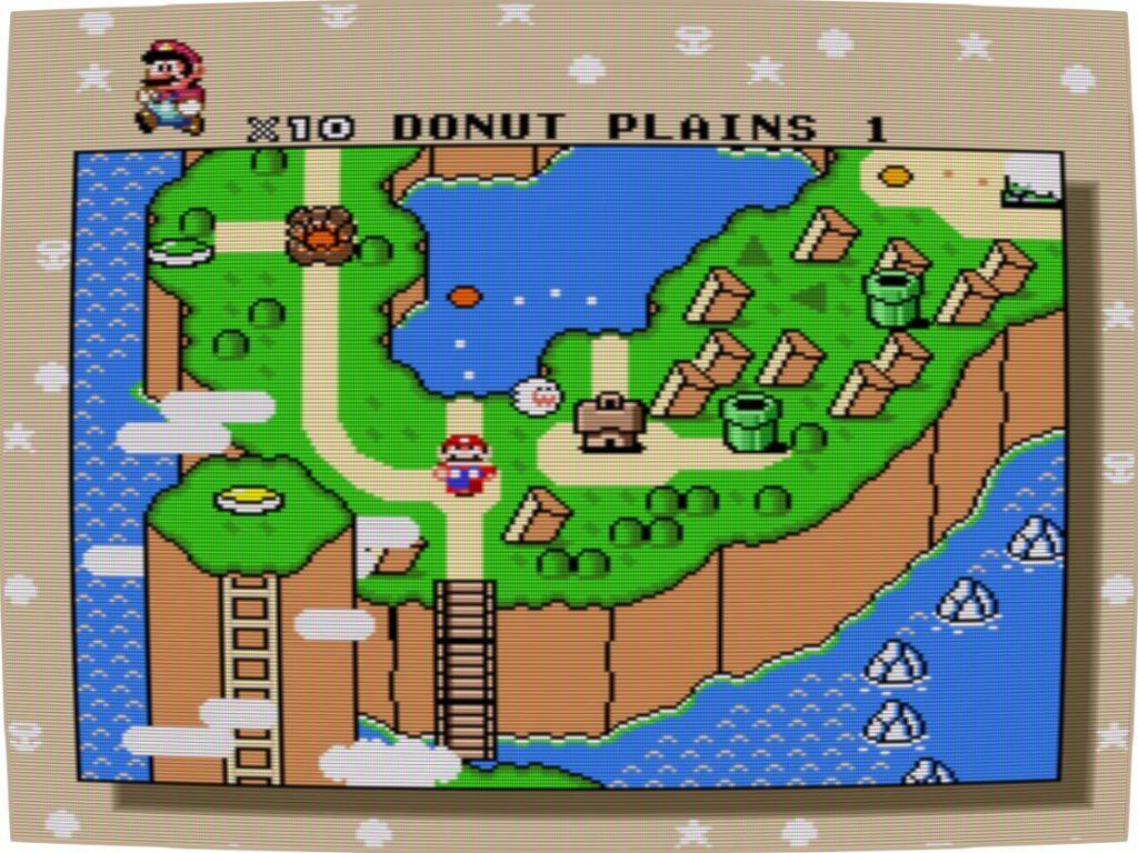 Super Mario World auf der RecalBox mit dem Retro-Filter