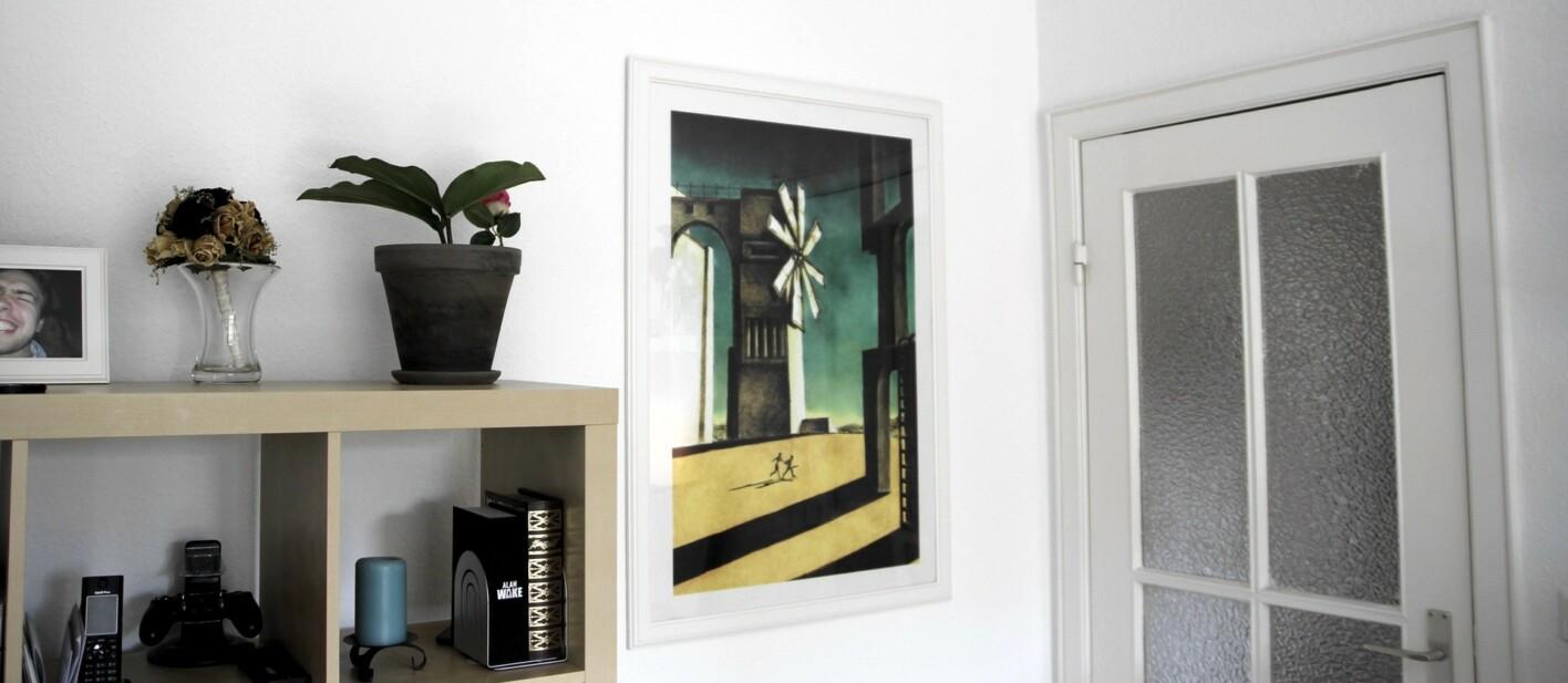 PS2 Cover ICO gerahmt, Kunstdruck 90x60cm