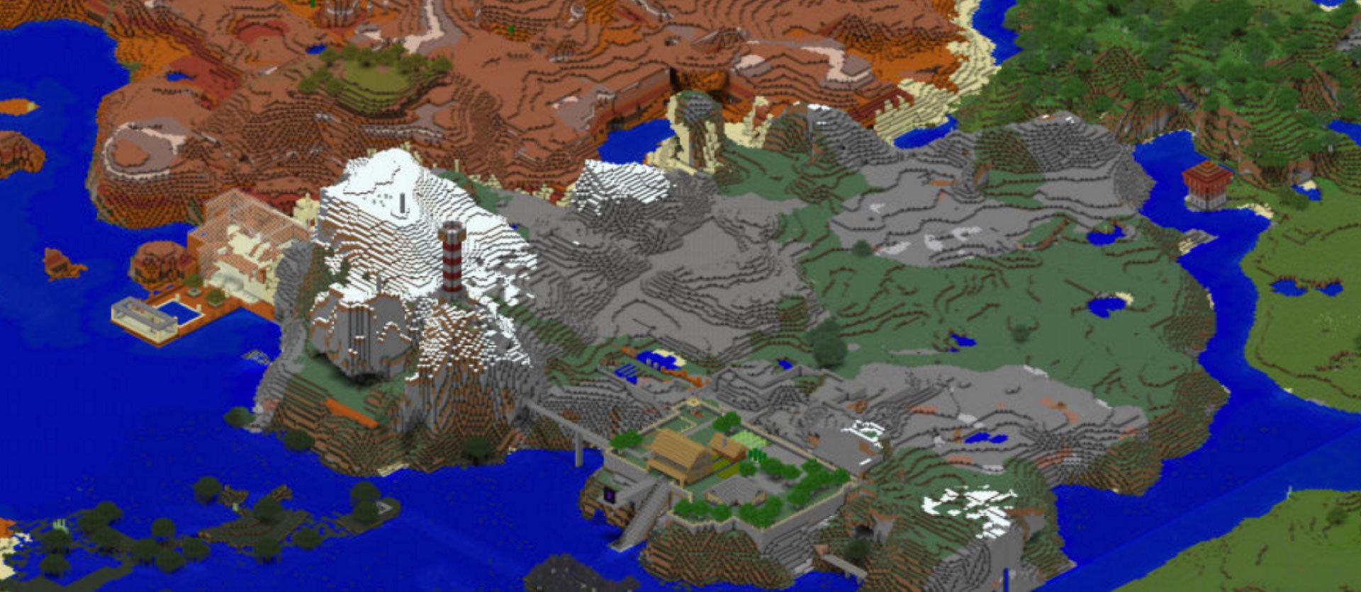Minecraft Isometrische Karte