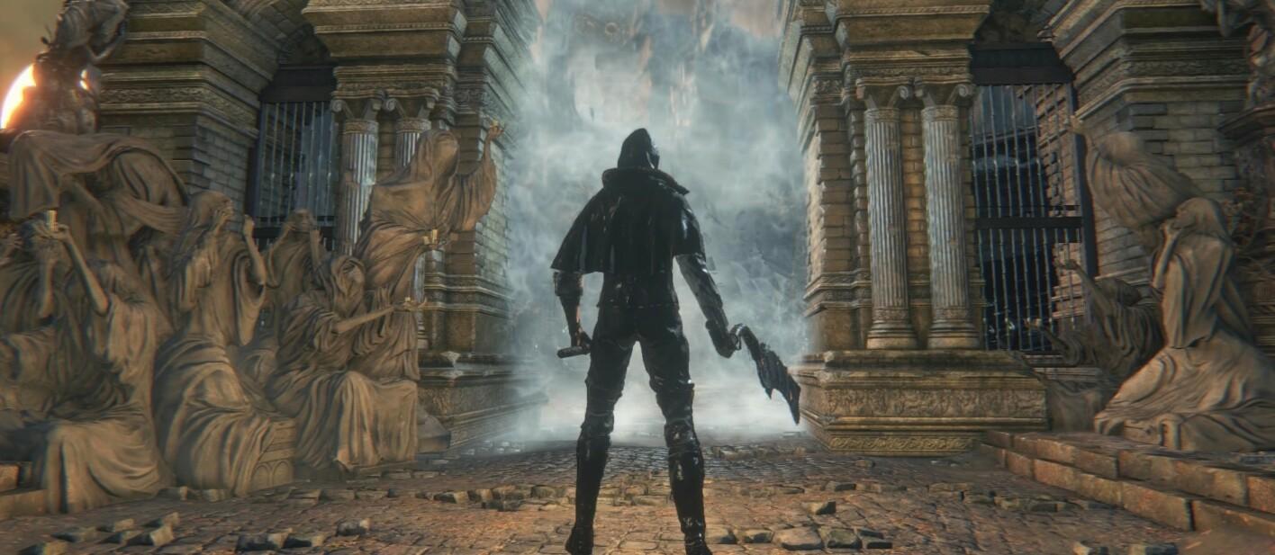 Bloodborne kurz vor dem ersten Boss