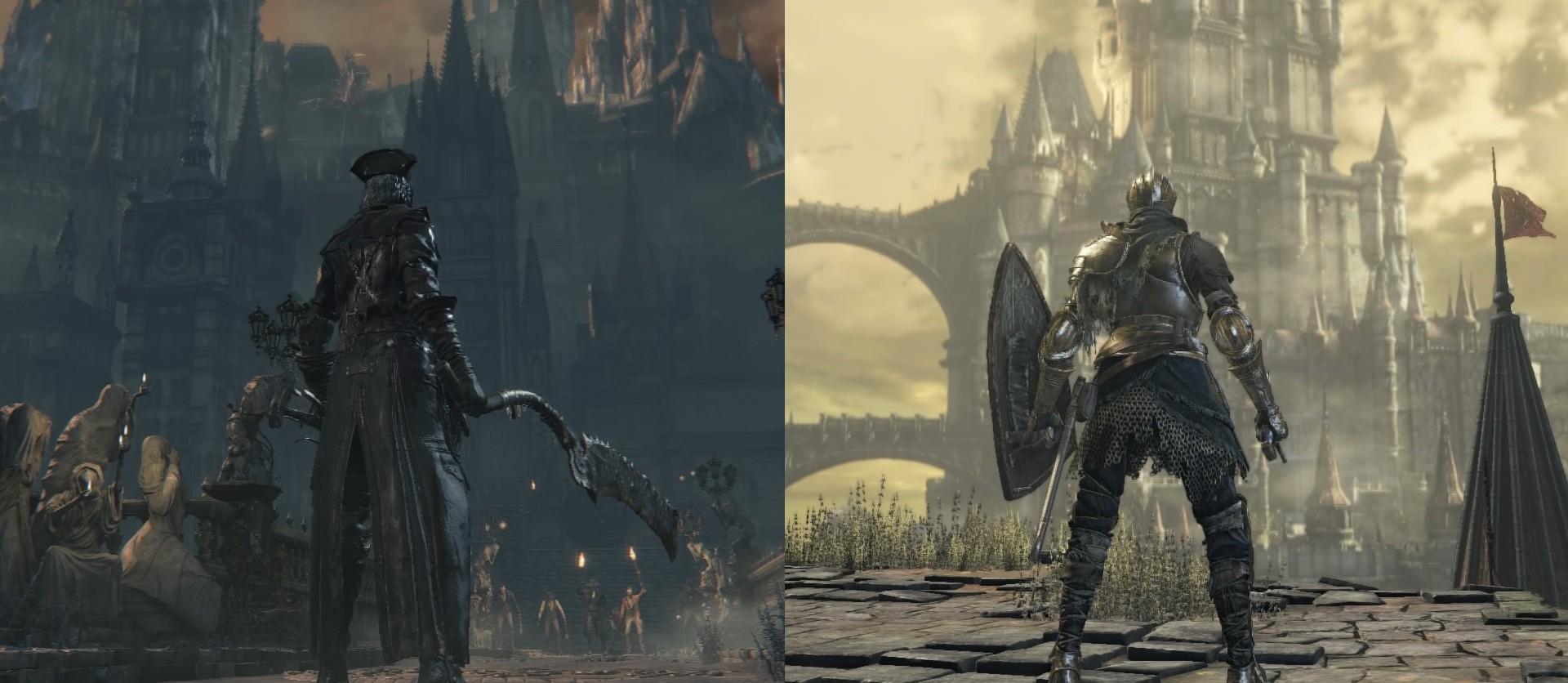 Gegenüberstellung Bloodborne und Dark Souls