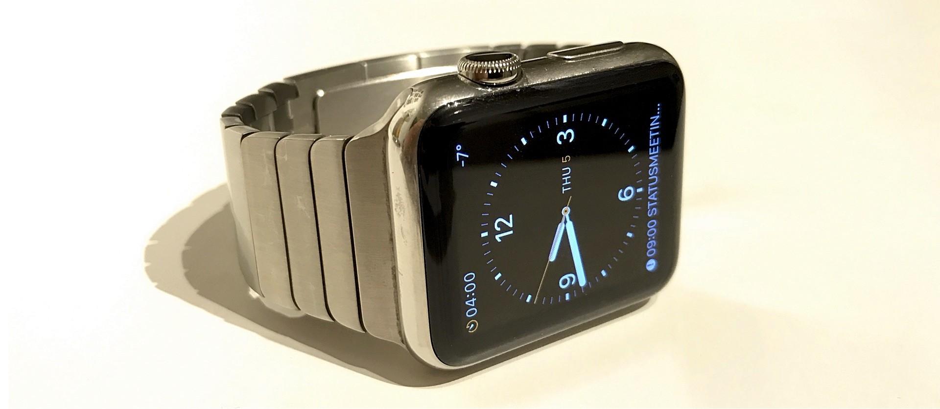 Schöne verchromte Apple Watch
