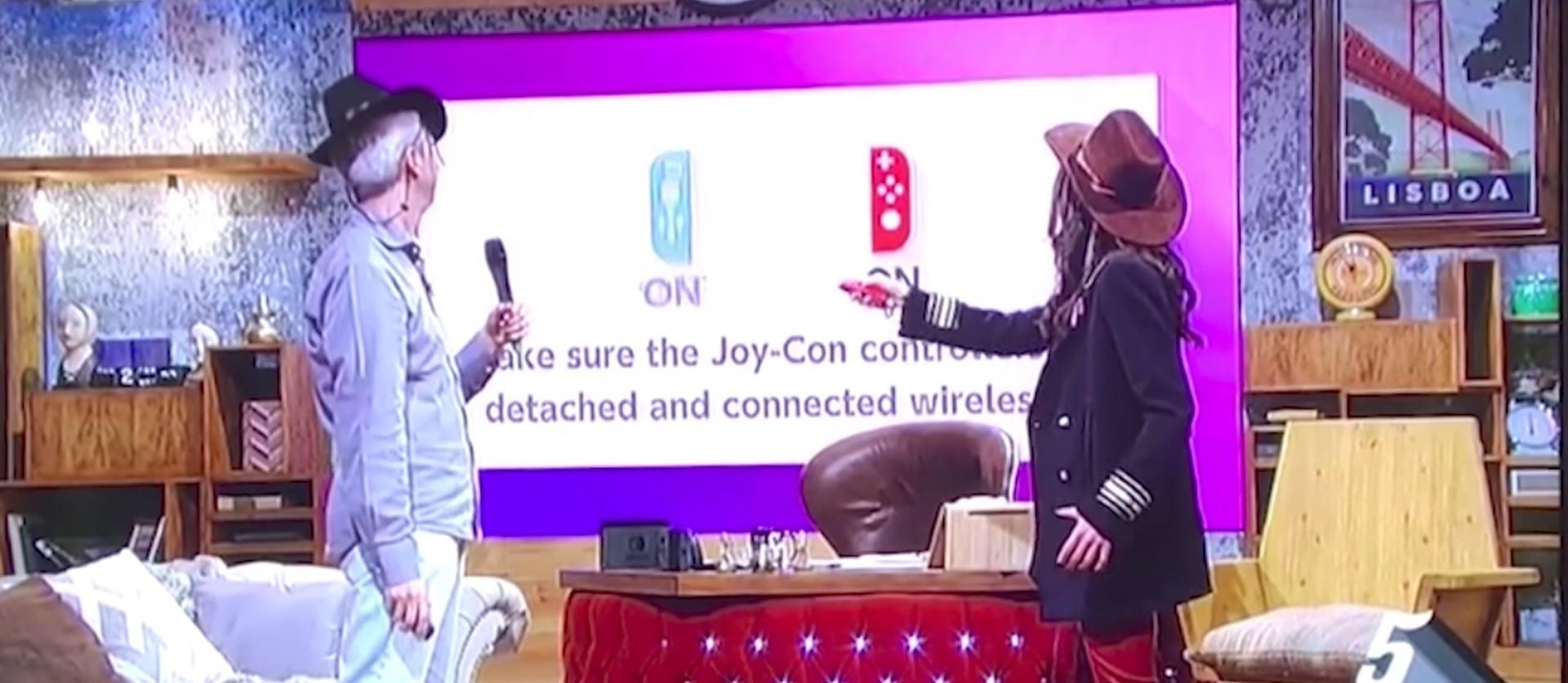 Die Joycon haben manchmal Verbindungsprobleme. Wie hier in eine Live-Sendung
