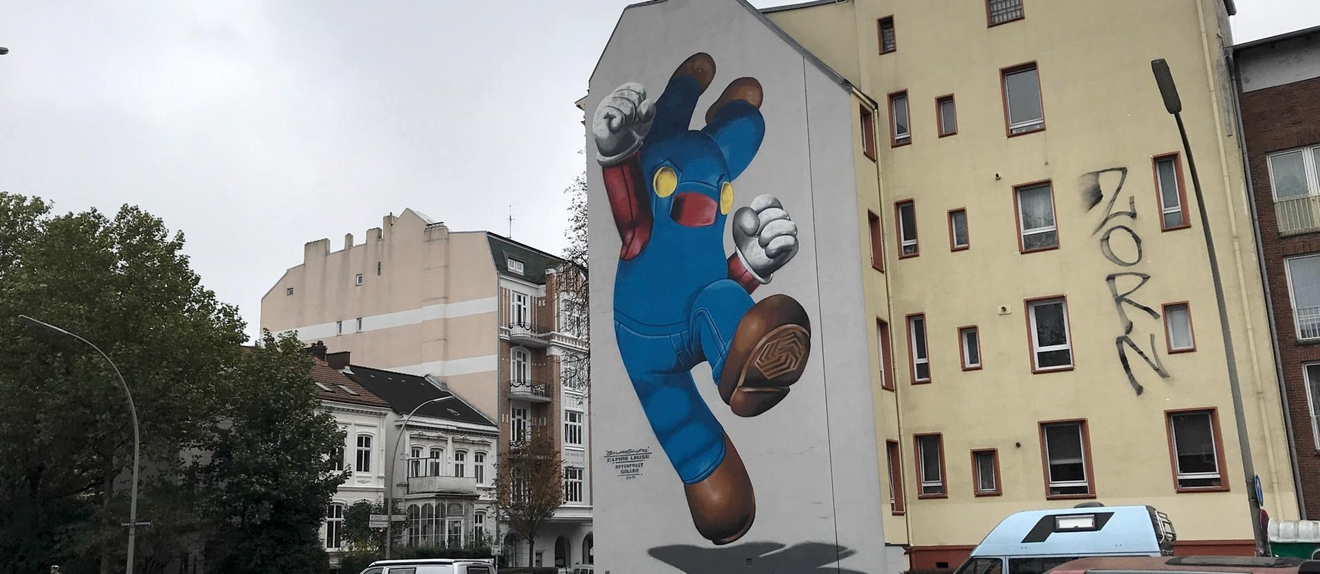 Mario Graffiti in der Gärtnerstraße