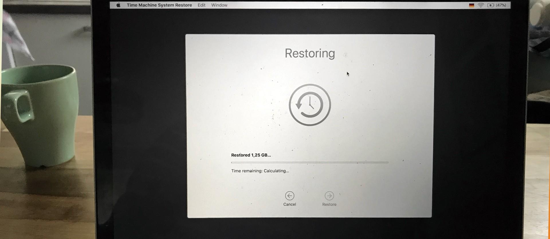 Time Machine Backup Wiederherstellung