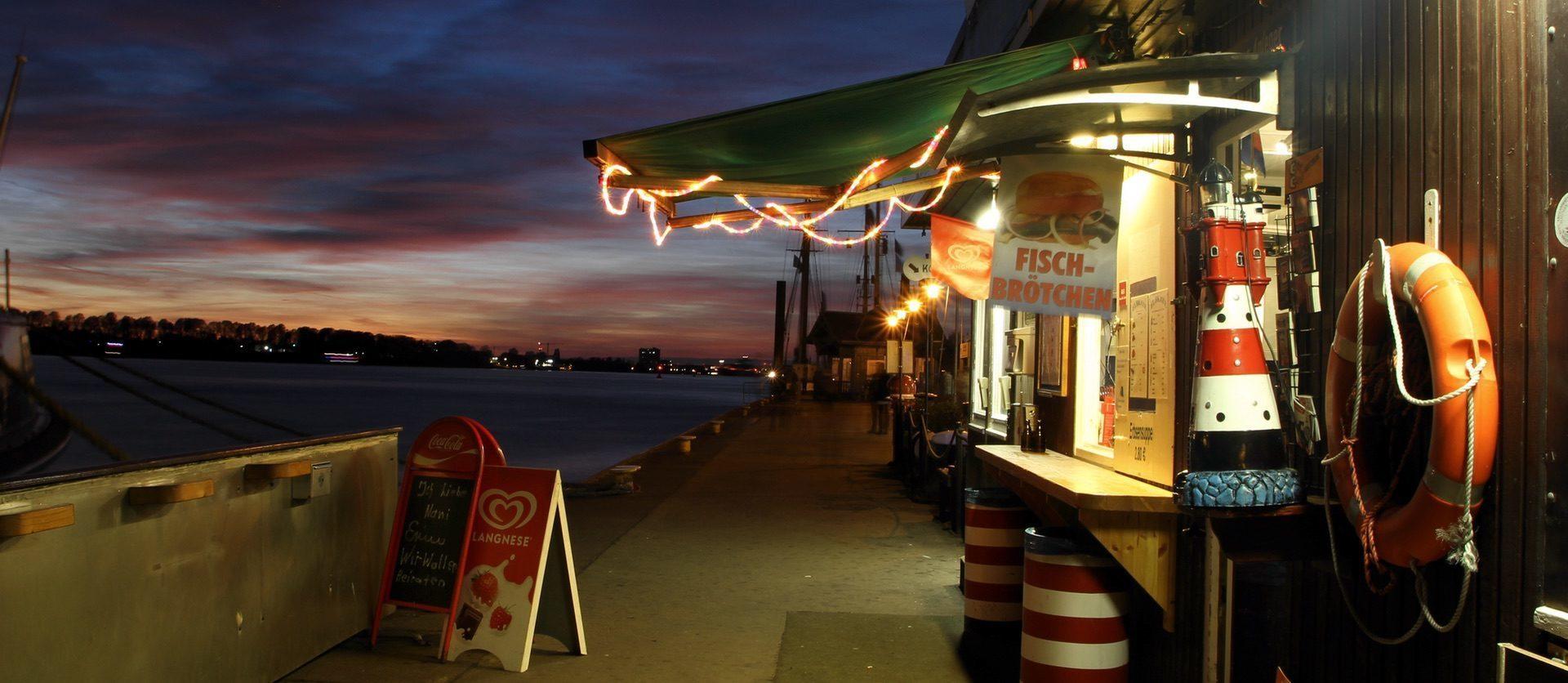 Imbissbude am Hamburger Hafen