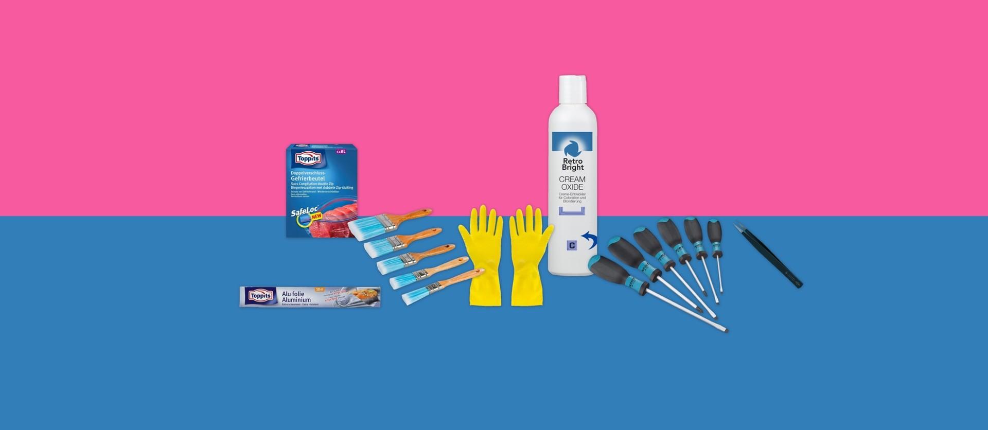 Plastik bleichen mit Bleichmittel