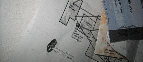 Die Whompa-Karte von Anarchy Online an der Pinnwand von Dänjiel