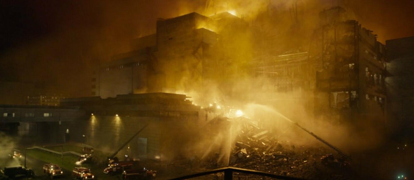 Das Atomkraftwerk von Tschernobyl in Flammen