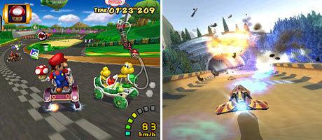 Mario Kart (GC) und WipEout(PSP) sind im Kern das selbe Spiel mit anderer Präsentation