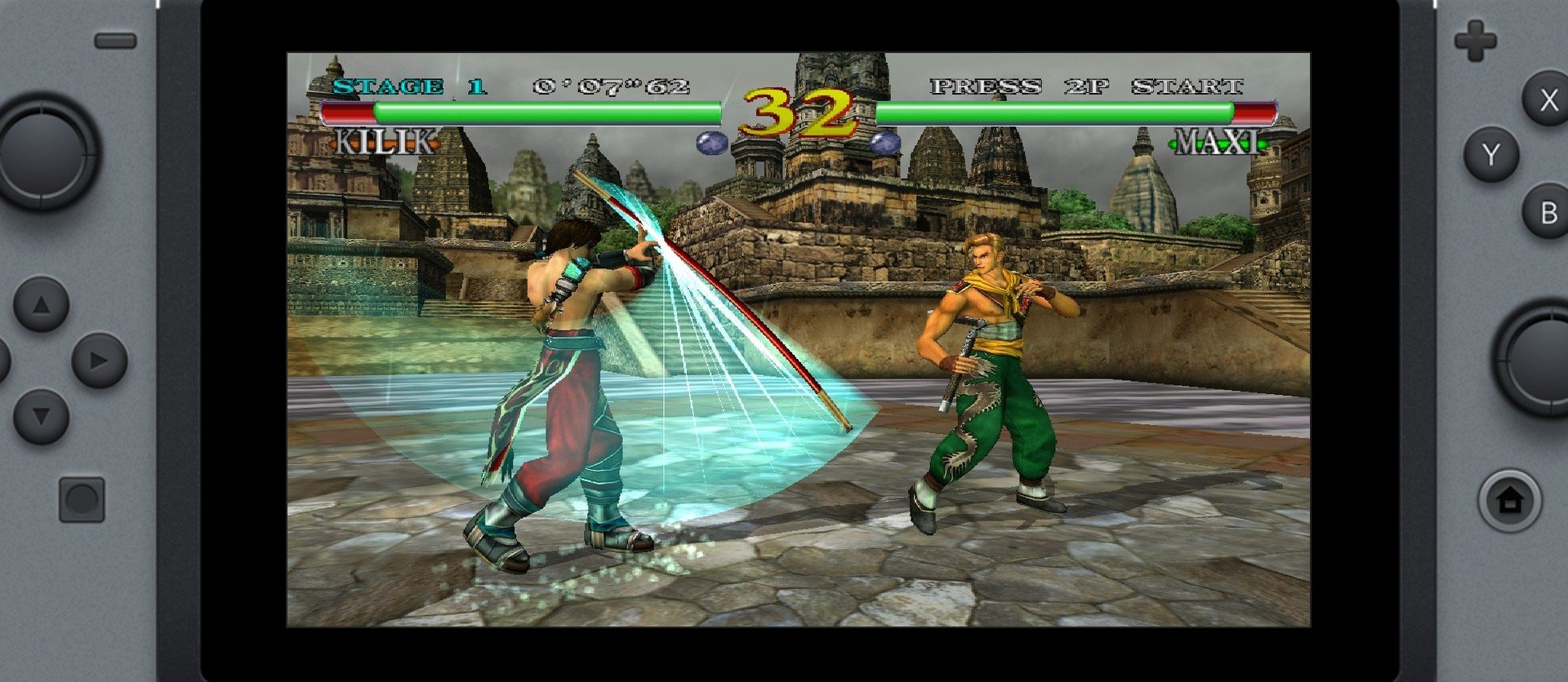 Soul Calibur auf dem Flycast Retroarch Core der Switch