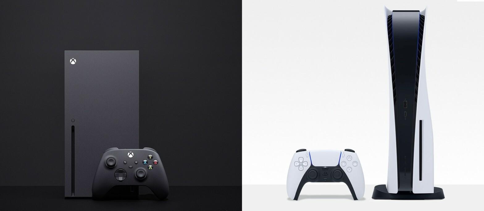 Nicht nur die Größe ist unterschiedlich: Xbox Series X (31cm hoch) gegenüber PlayStation 5