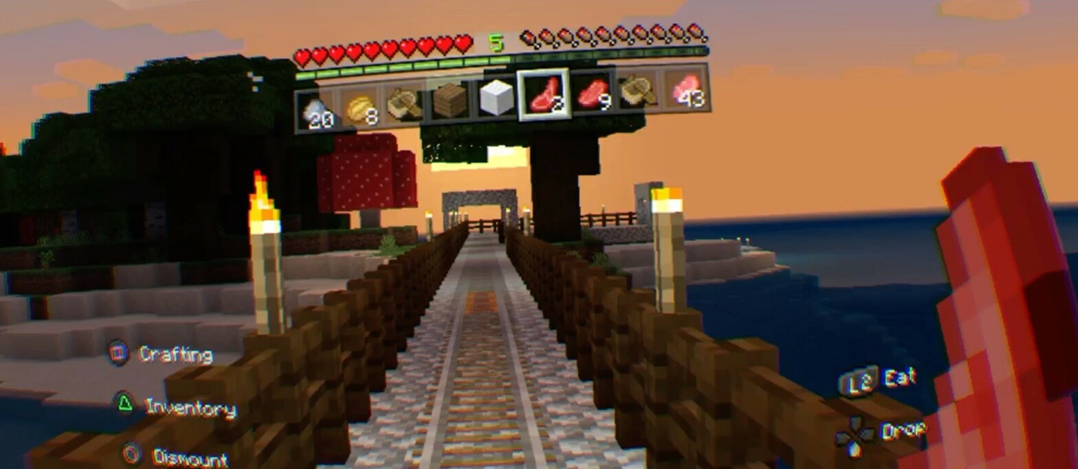 Minecraft VR auf der PlayStation VR