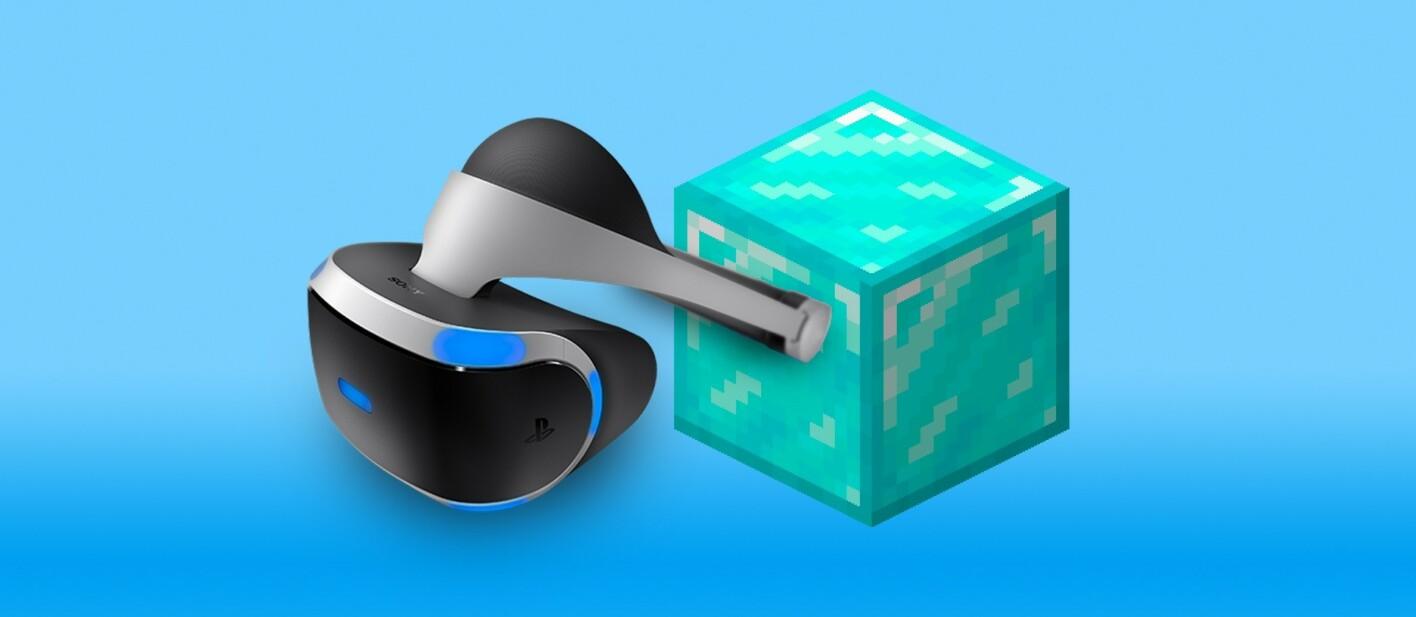 Minecraft VR auf der PlayStation 4