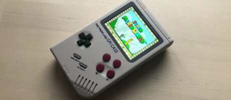 GPi Case mit Super RetroBoy