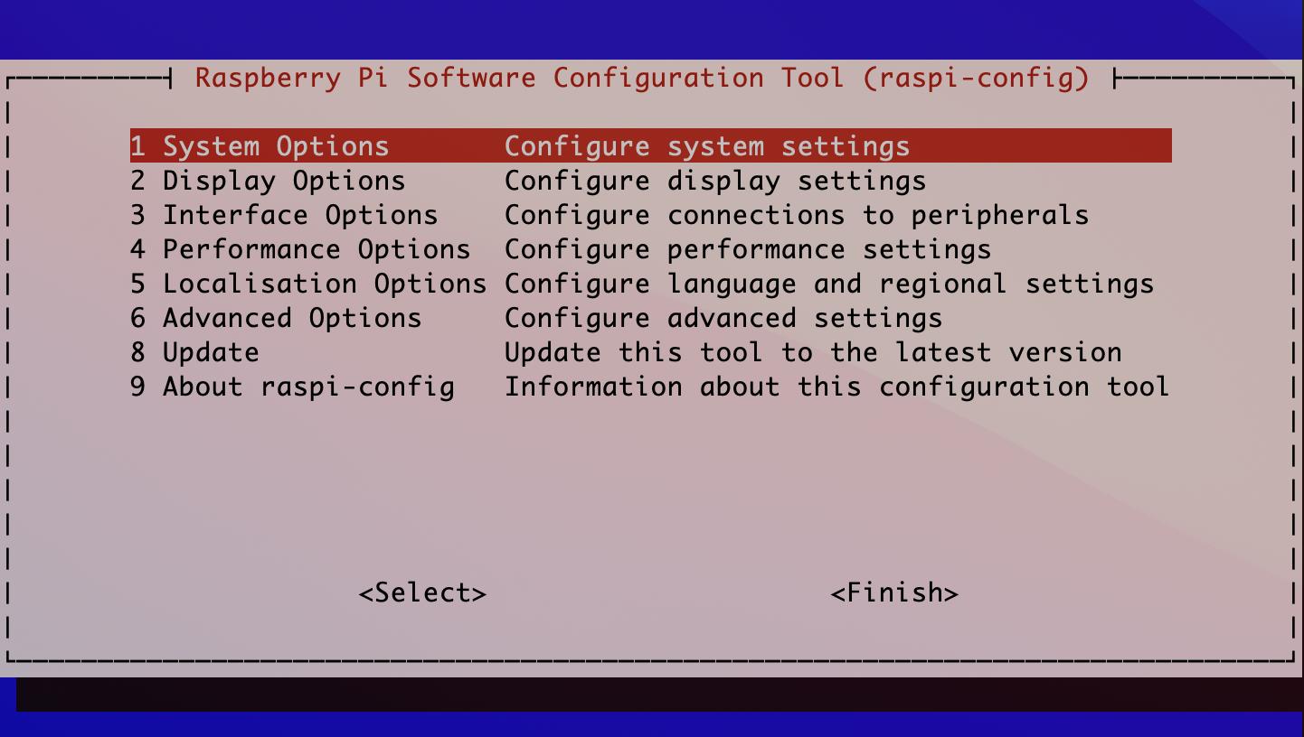 In der Rasp-Config konfigurieren wir das Raspberry PiOS.