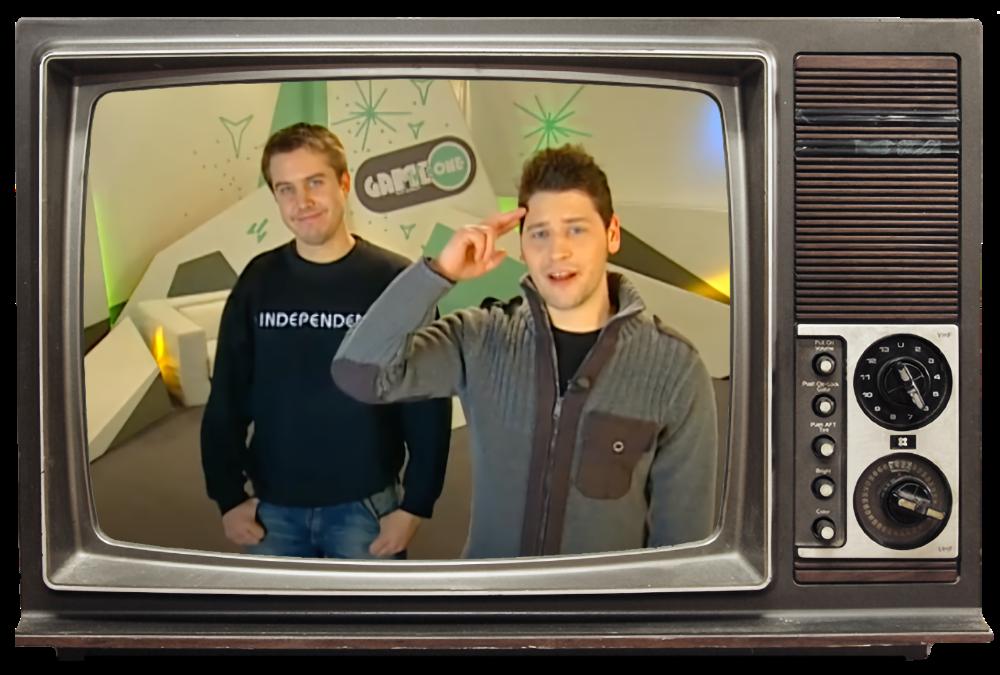 Marc Tönsing zusammen mit Simon Krätschmer in Folge 57 von MTV Game One