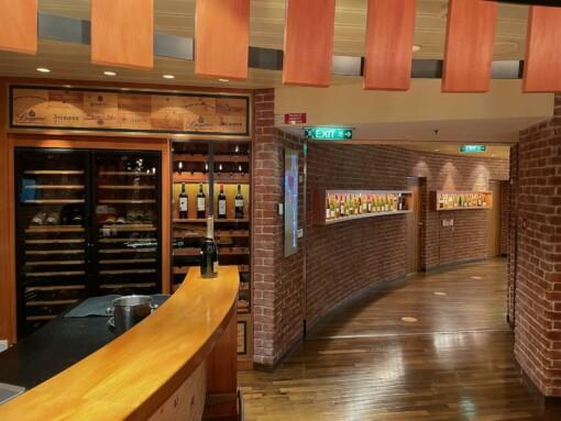 Die Weinbar auf der AIDAmar