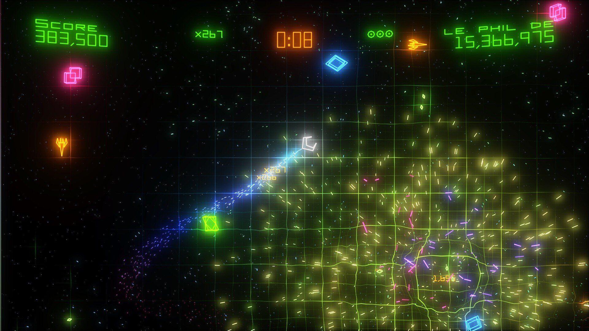 Geometry Wars Retro Evolved 2 habe ich schon auf der Xbox 360 gespielt