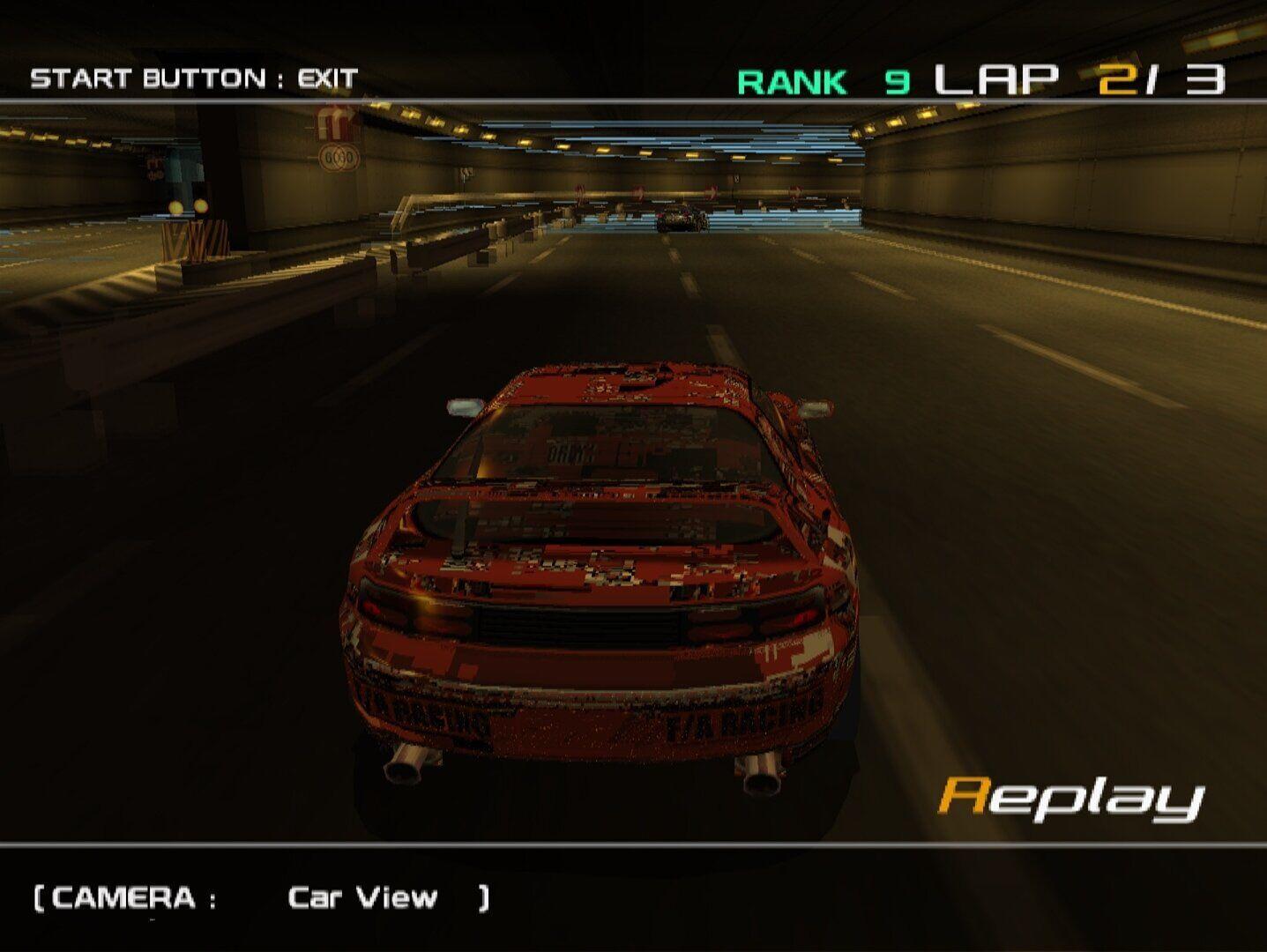 Ridge Racer 5 auf dem PCSX2 Core in 1080p (hochskaliert) mit 60FPS und Grafikfehlern